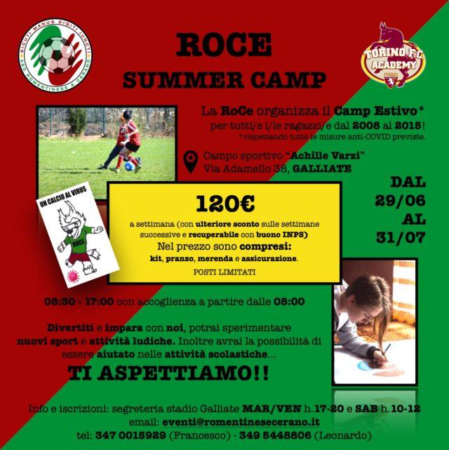 La Ro.ce. prende a calci il virus…. e organizza il Summer camp 2020