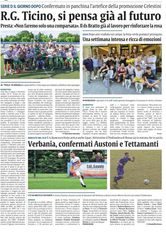 Corriere di Novara 05/07/21