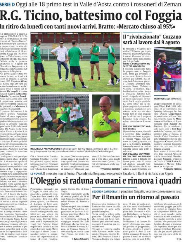 Corriere di Novara del 05/08/21