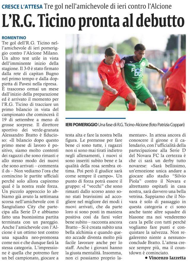 Corriere di Novara del 06/09/21