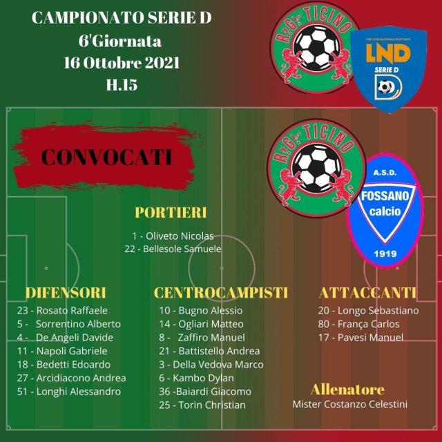 Designazioni arbitrali e convocazioni per la 6′ giornata Campionato serie D